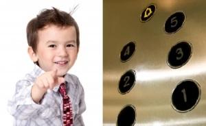 boy and elevator