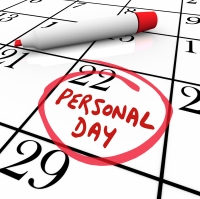 Personal Day Vacation Time Off Calendar Circled Date