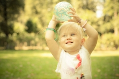 Safe summer-playing with ball