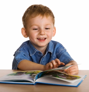 Child with the book