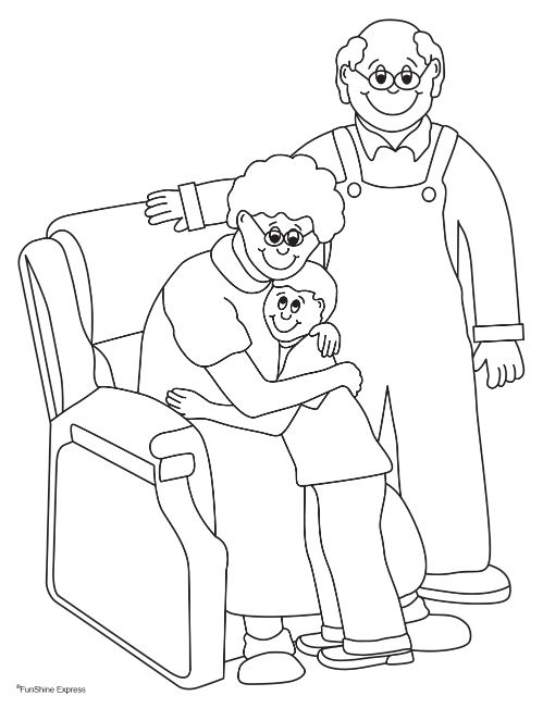 Grandma and me coloring pages