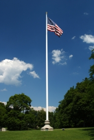 flagpole in field