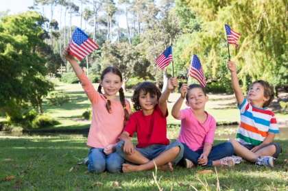 flag day-kids small flags