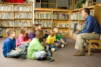 Story Time in the School Library