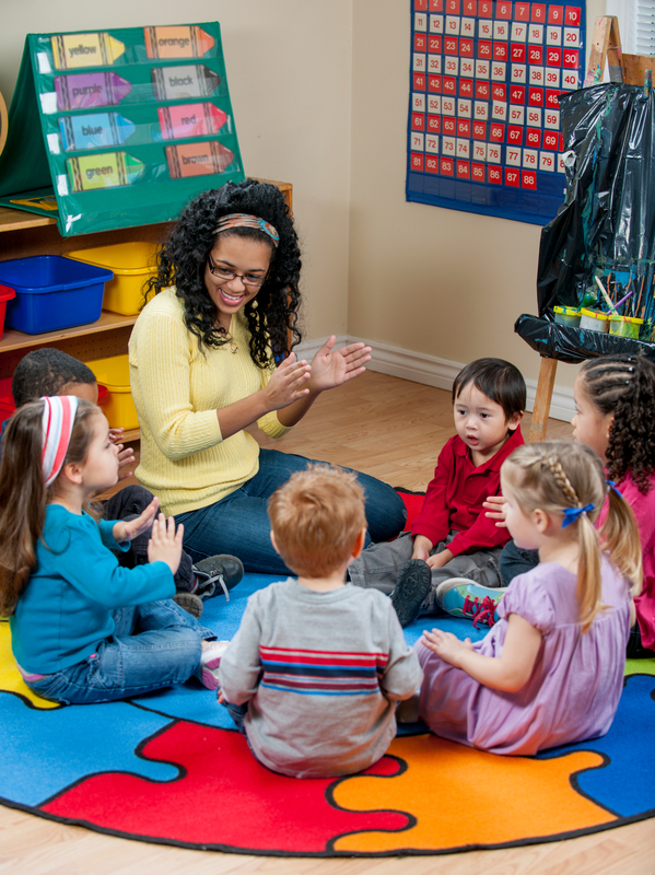 Singing and Clapping During Circle Time