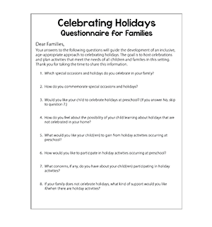Holiday Questionnaire